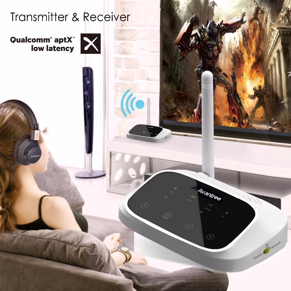 Prix pour Avantree Bluetooth LONGUE PORTÉE Émetteur et Récepteur 2-en-1 pour TV Haut-parleurs aptX Faible Latence Soutien Optique et 3.5mm audio