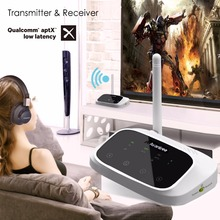 Avantree LONG RANGE Bluetooth Transmitter and Receiver 2-in-1 for TV Speakers aptX Low Latency Support Optical and 3.5mm audio