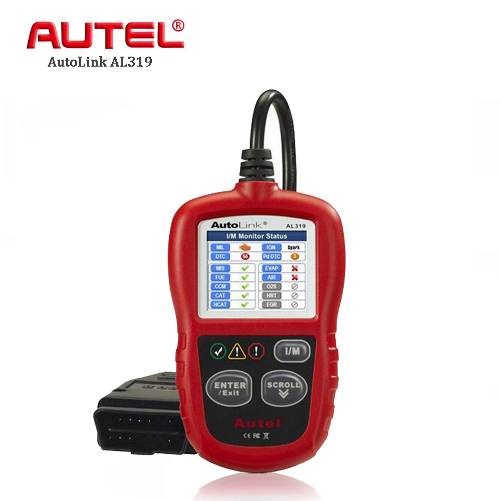 Autel AL319 OBD2 Scanner Auto Car Diagnostic Tool Code Reader Scan Tool Automotive OBDII OBD 2 Scaner EOBD Fault Reader Tools one set portable car truck diagnostic scanner tool auto obd 2 kw807 fault code reader scanners with cd