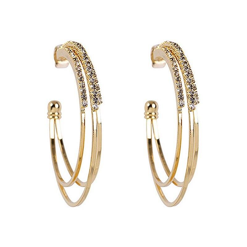 bdc50d4215b5 USTAR de cristales, pendientes para las mujeres de color plata de ...