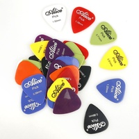24/30/40/50/100pcs guitar picks With box case Alice acoustic electric guitar accessories   musical     instrument   thickness 0.58-1.5mm