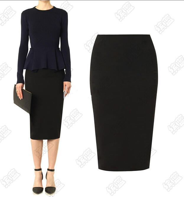 Popular Black Office Skirt-Buy Cheap Black Office Skirt lots from ...