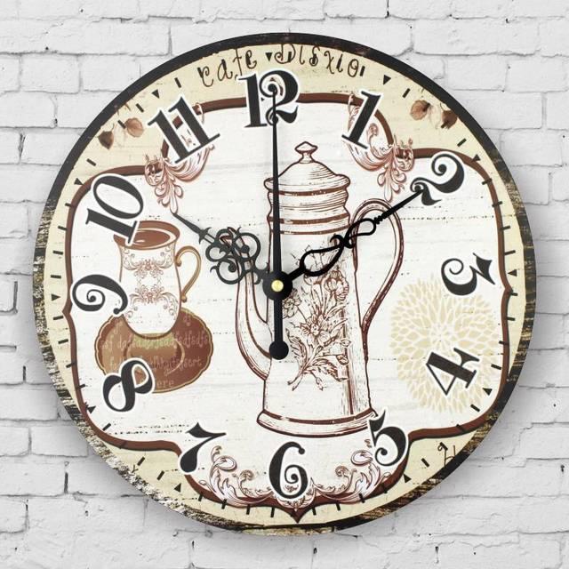 De pared de la cocina vintage home decor gran reloj de pared ...