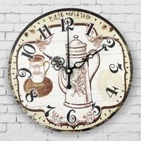 Kuchnia zegar ścienny w stylu vintage home decor duży zegar ścienny milczy zegarek kwarcowy zegarki horloge murale ścienne living room decoration