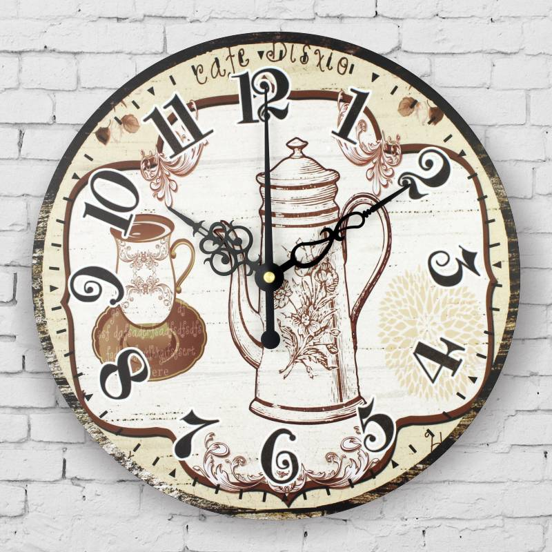 kitchen wall clock vintage home decor large silent wall clock quartz watch wall living room. Black Bedroom Furniture Sets. Home Design Ideas