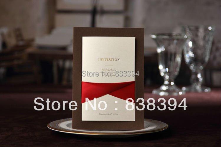 ФОТО 50pcs Simple Style Wedding Invitation  Printable & Customizable Colorful Photo Wholesale Free Shipping