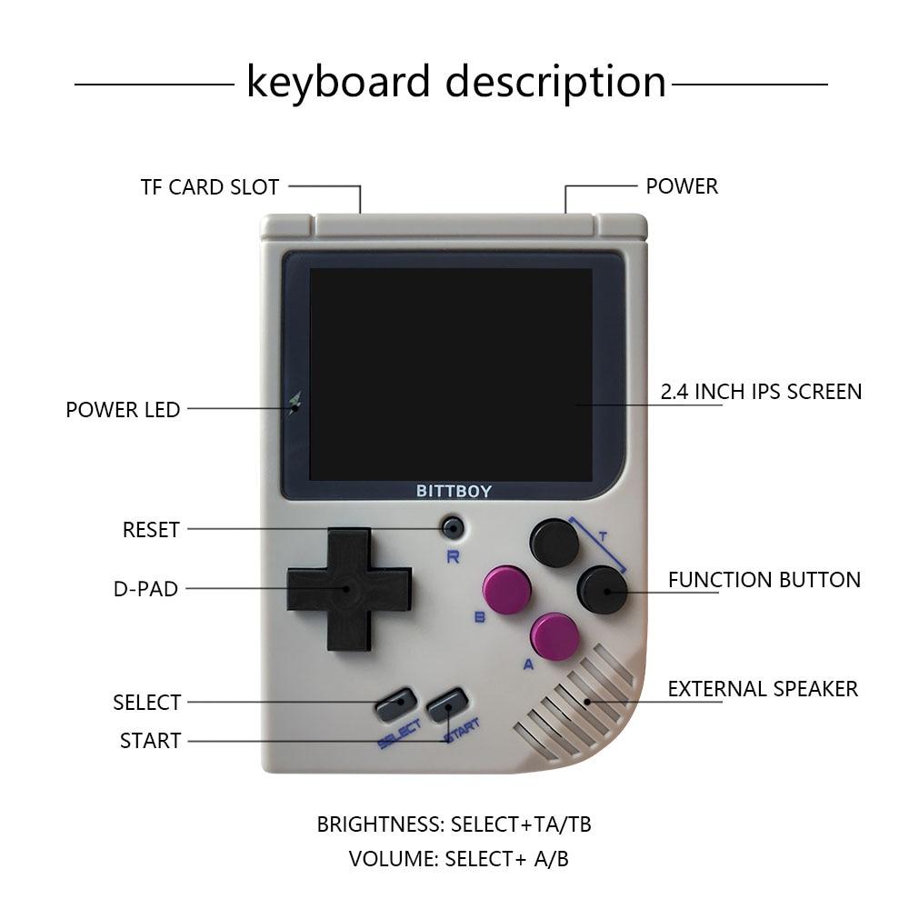 Nuevo BittBoy V3.5 consola de videojuegos Retro 7