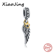 hot deal buy 925 sterling silver angel wings charm beads fit original european charm bracelet beads diy jewelry making for women gifts