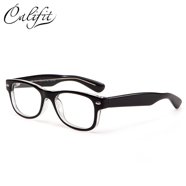 CALIFIT Classic Design Optical Glasses Women Customized Myopia Clear Lens Ladies Full Frame Spectacles New Eyeglasses Female