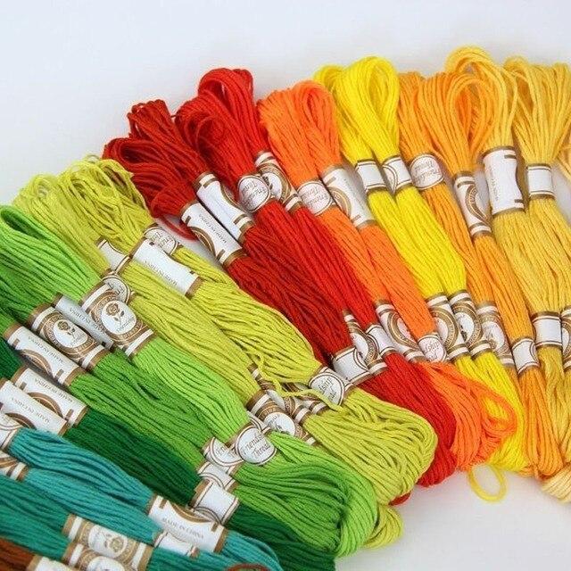 50/100 çapa benzer DMC çapraz dikiş pamuk nakış ipliği ipi kiti DIY giyim dikiş kumaşlar Skeins el sanatları Hogard
