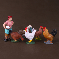 pvc figure Decoration model toy farm poultry 6pcs/set
