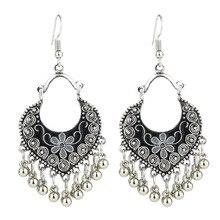 ФОТО ethnic style fashion temperament jewelry vintage metal ball tassel earrings dangle drop earrings for women wedding gifts brincos
