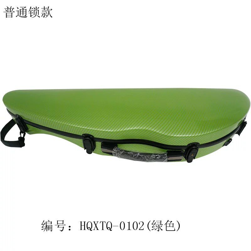one  violin case 4/4 full  size  green  color  new  Carbon fiber music bag    Waterproof bag handmade new solid maple wood brown acoustic violin violino 4 4 electric violin case bow included