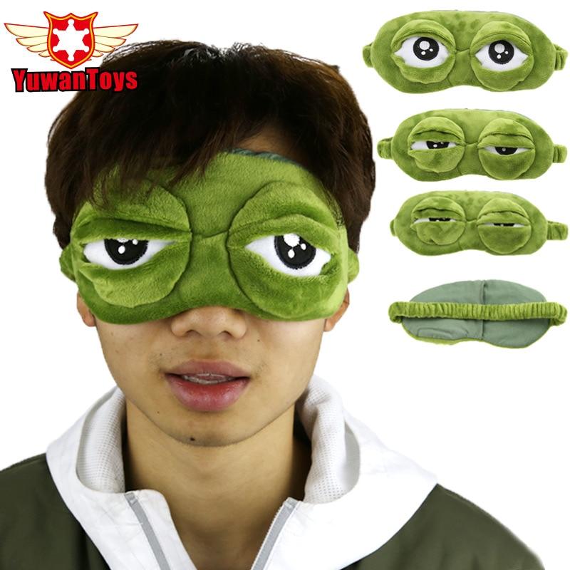 Apparel Accessories Funny Creative Pepe The Frog Sad Frog 3d Eye Mask Cover Cartoon Plush Sleeping Mask Cute Anime Gift