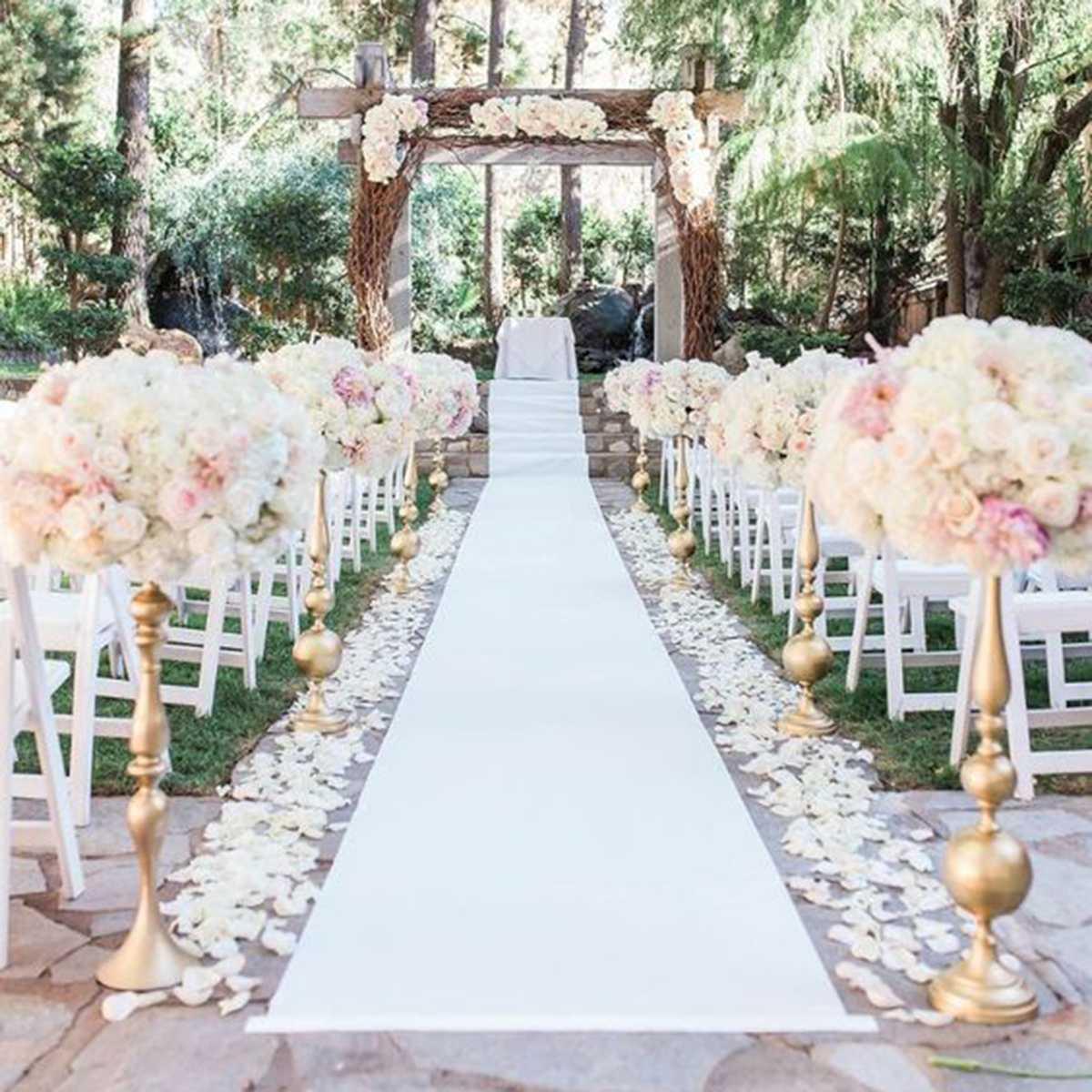 1.2 m x 10 m tapis blanc extérieur tapis allée pour Banquet de mariage Film Festival fête célébrations récompenses événements décoration tapis