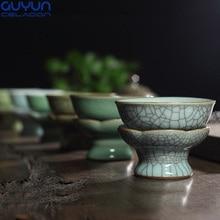 Porzellan Teesiebe Kung Fu Tee Filter Teezeremonie Ge ofen Und Di ofen Stil Tee Zubehör
