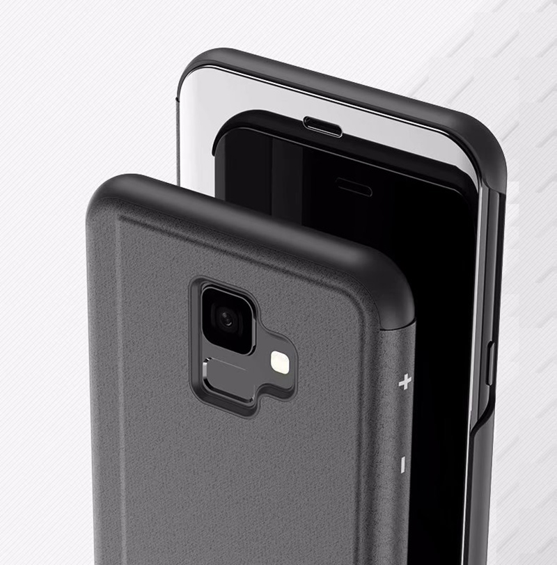 Smart Mirror Flip Case For Samsung Galaxy S8 S9 Plus S7 Edge A5 A3 A7 J3 J7  J5 2017 J4 J6 J8 A6 Plus A8 2018 J2 Prime 2016 Cover
