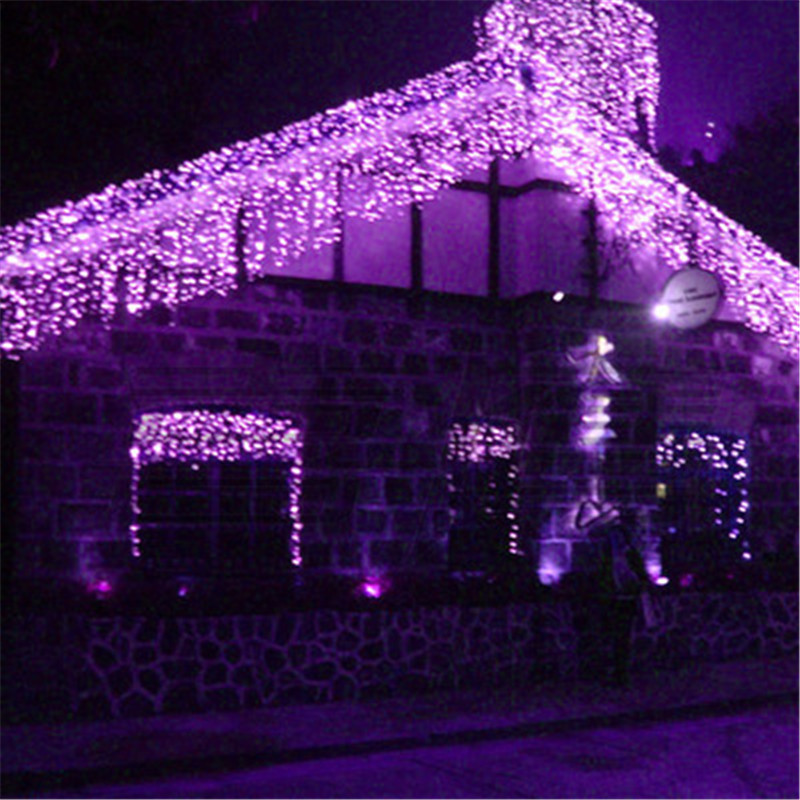 LED 10x0.5m Curtain String Light Fairy Christmas Party Holiday New Year Garland Waterproof Garden Outdoor Flashing Ceiling Lamp snowscape print christmas waterproof shower curtain