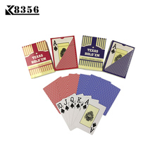 K8356 NEW Baccarat Texas Hold'em Plastic Playing Cards Waterproof Frosting Poker Cards Board Games 2.48*3.46 inch Large Letters
