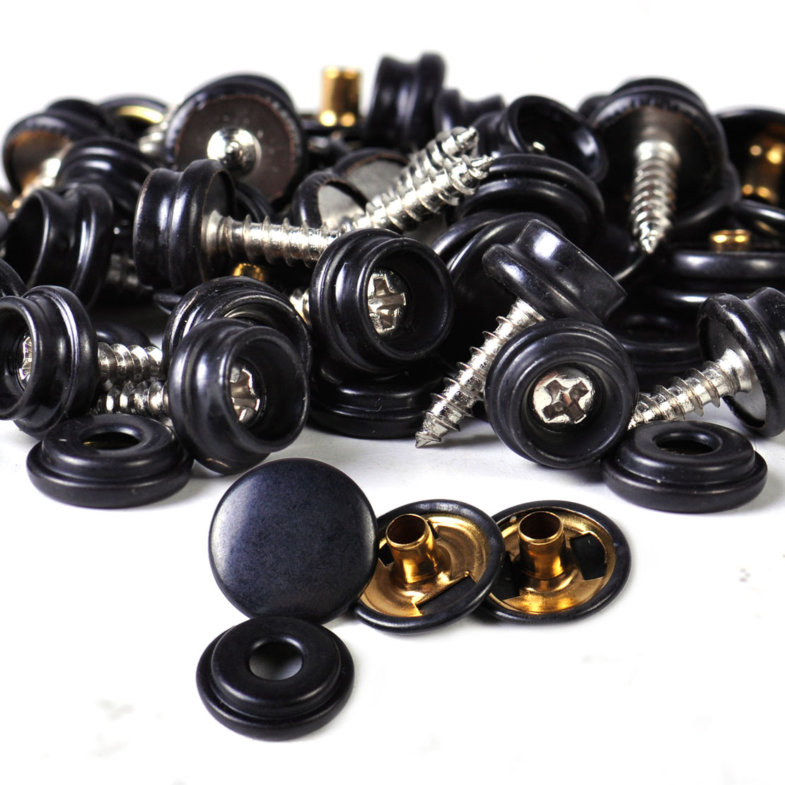 CITALL 25set Black Snap Button Screw Studs fit for Canvas Tent Canopy Fastener Sockets Boat Marine Cover