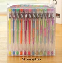 Intelligent 60 Gel stylos set, Couleur Gel stylos paillettes métalliques stylos bon cadeau pour la coloration de la, Enfants, Esquisse, Peinture, Dessin
