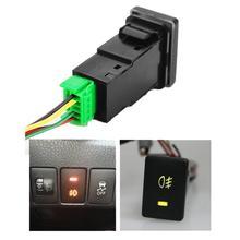 Автомобильный противотуманный светодиодный светильник 12 В, кнопка включения-выключения для Toyota Camry Corolla, автомобильный Стайлинг, аксессуары для автомобиля, круглый Кулисный переключатель, новинка