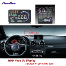 Liandlee For Audi A1 2010-2018 OBD II  Safe Driving Screen Car HUD Head Up Display Projector Refkecting Windshield Full Function цена и фото