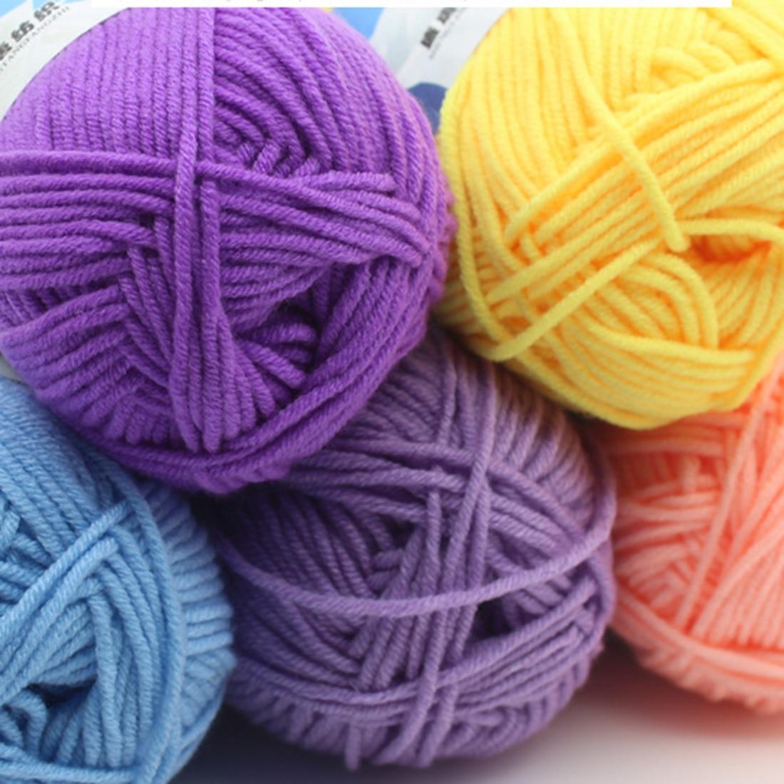 Sweet Soft Cotton Baby Knitting Wool Yarn Milk Cotton Thick Yarn for Knitting Scarf Hand Knitting Crochet Yarn 1