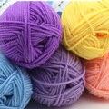Sweet Soft Cotton Baby Knitting Wool Yarn Milk Cotton Thick Yarn for Knitting Scarf Hand Knitting Crochet Yarn