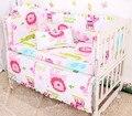 Promoción! 6 unids 100% algodón cortina tope del pesebre del bebé juegos de cama para bebé kit berco bebé, incluye :( Bumper + hoja + almohada cubre )