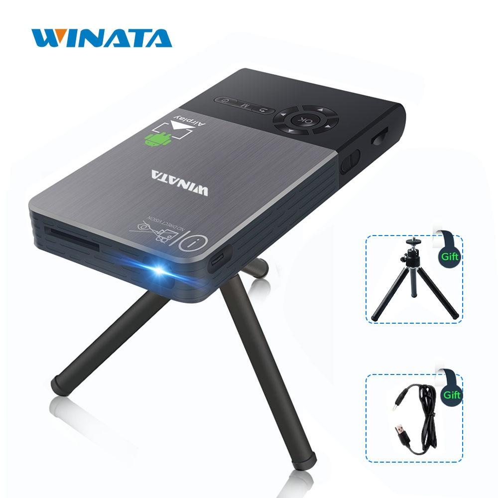 Full Hd Smart Dlp300b Mini Projector Lcd 3d Home Theater: WINATA Mini Projector Wifi Smart DLP Projector Video 1080P