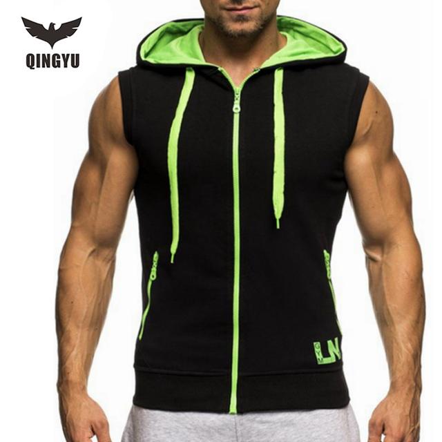 Sin mangas de los hombres 2017 marca sling masculino decoración de la cremallera sin mangas chaleco culturismo tank top para hombre jersey 2xl fywn clothing