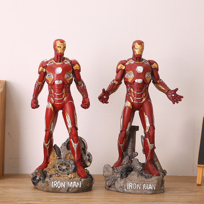 30cm Iron Man Action Figures Toy Super Hero Anime Iron Man Collectible Model Toys Gifts super hero the flash man green lantern action figures toys collectible pvc model toy christmas gift for kids 20cm n006