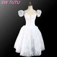 Romantic Ballet Tutu Dress For Children Ballerina Dress Kids Lovely Dancing Girl White Tutu Ballet Dress