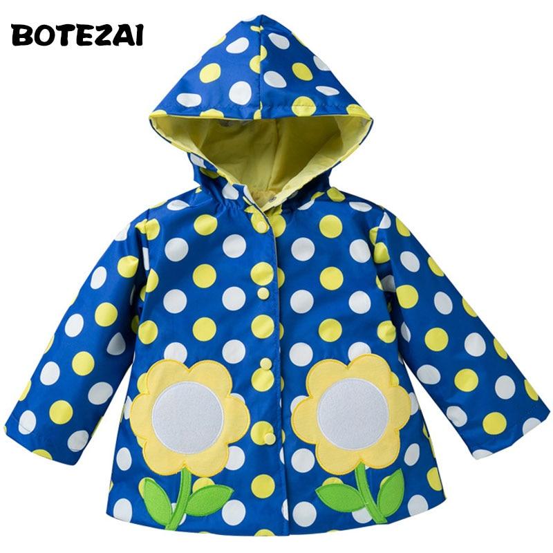 US $10.26 38% OFF|2017 frühling Regenmantel Mantel Mädchen Jacke Schöne Apfel Erdbeere Bestickt Kinder Oberbekleidung Mantel Jungen Mantel Jacke