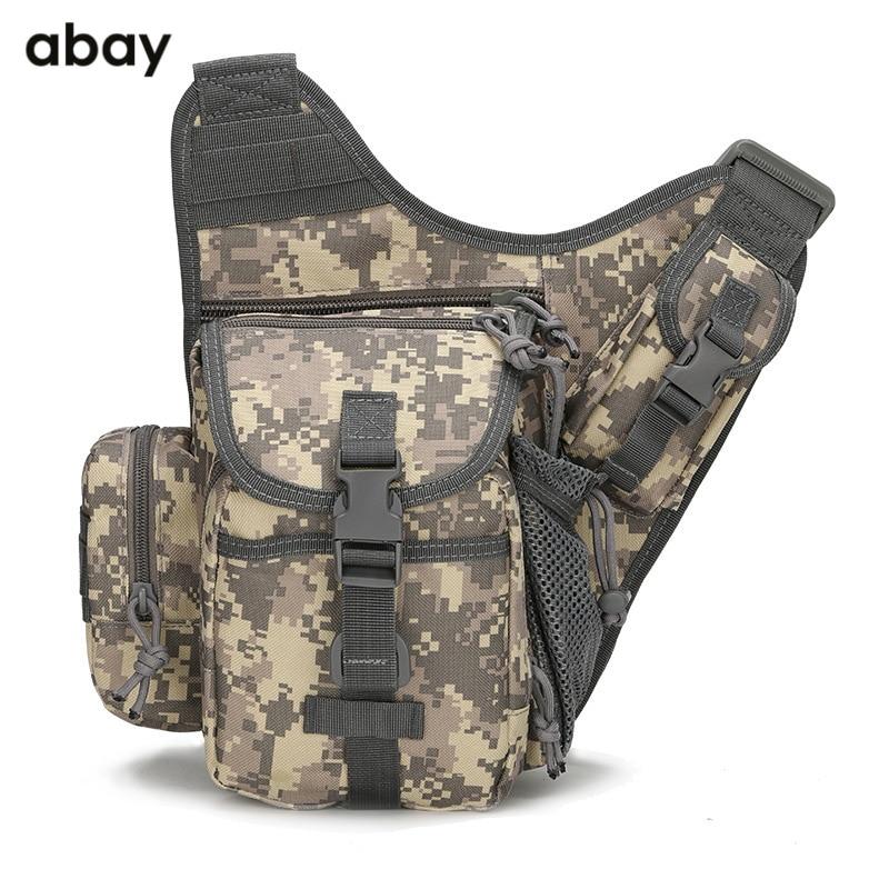 Camouflage couleur pure épaule unique biais poitrine couvrant le sac tactique, armée ventilateur en plein air photographie multifonctionnelle sac de selle