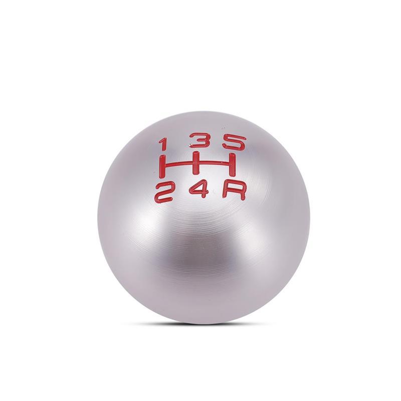 Partol 5 Speed Gear Shift Knob Ball JDM Racing Shifter Knob Aluminum Round For Honda Civic Manual Transmission Lock Nut Billet 17
