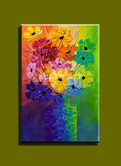 Large Abstract modern canvas wall handpainted large font b Knife b font paint oil painting on