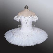 Erwachsene Weiß ballett-tutu, ballett-tutu Weiß Swan Klassische ballett-tutu, professionelle Ballett-ballettröckchen mit blumen, tutu dance BT9001