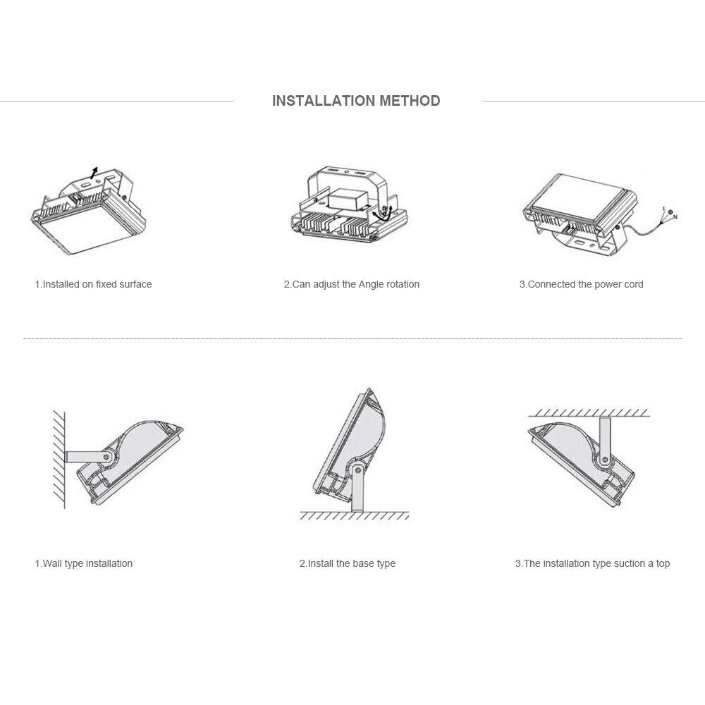 LUCKYLED markalı LED sel işıq 10W 20W 30W 50W AC220V Su keçirməz - Xarici işıqlandırma - Fotoqrafiya 6