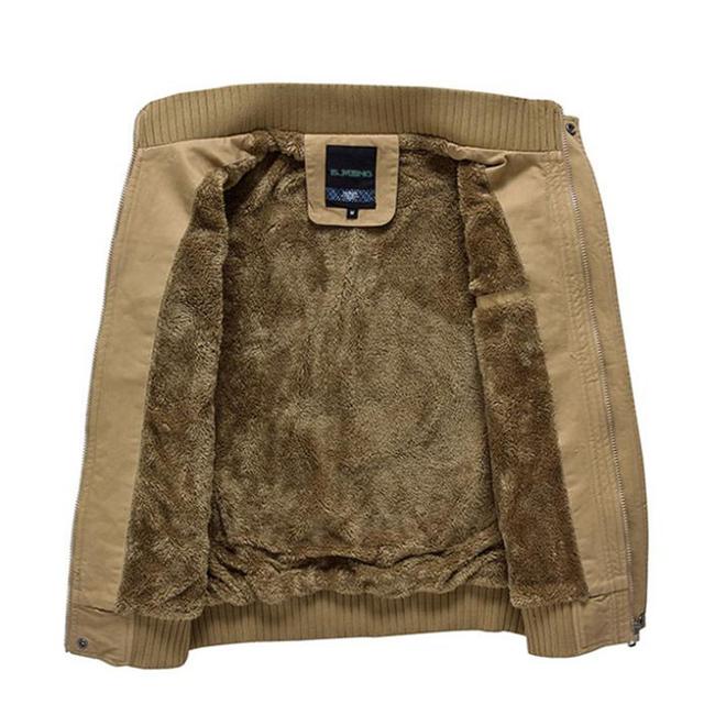 2016 New Men Jacket Plus Velvet Thickening Fluffy Top Quality Army Green/Khaki M-XXXL Wholesale&Retail MWJ193