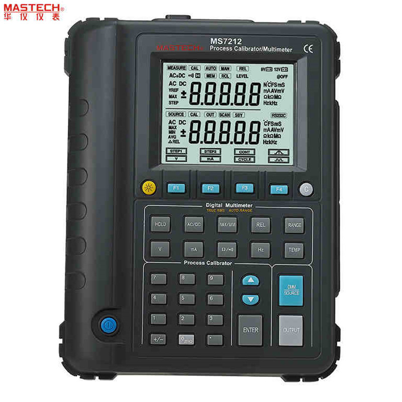 MASTECH MS7212 Multifunction Process Calibrator / Correction Voltage and Current Frequency / RS232 / USB Signal generator hantek ht824 multifunction process calibrator correction voltage and current frequency usb signal generator industry inst