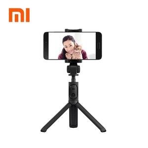 Image 1 - 100%Original xiaomi Handheld Mini Tripod 3 in 1 Self portrait Monopod Phone Selfie Stick Bluetooth Wireless Remote Shutter Black