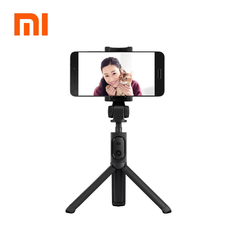 100% Originale xiaomi Portatile Mini Treppiede 3 in 1 Self-Portrait Monopiede Telefono Selfie Bastone Bluetooth Wireless di Scatto Remoto Nero