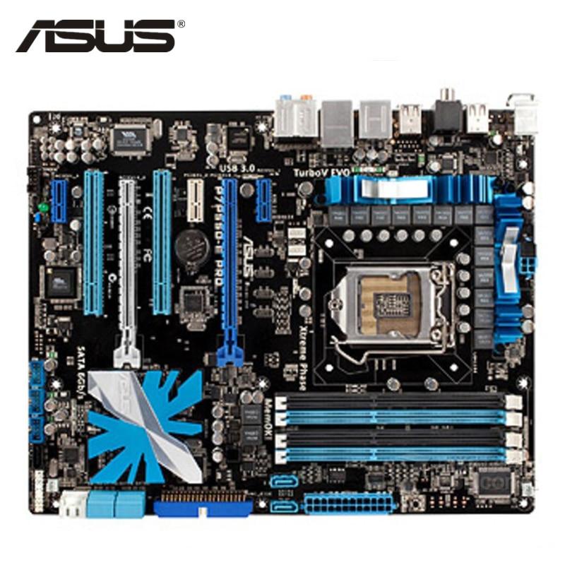 ASUS P7P55D E Pro Материнская плата LGA 1156 DDR3 16 ГБ для Intel P55 P7P55D E профессиональных настольных компьютеров Systemboard PCI E X16 используется