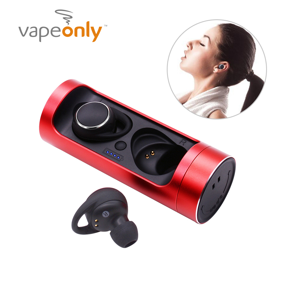 Vapeonly TWS Bluetooth Earbuds Waterproof Mini Wireless V5.0 Portable Earbuds Stereo Handfree Sports Earbuds W/ Charger Box