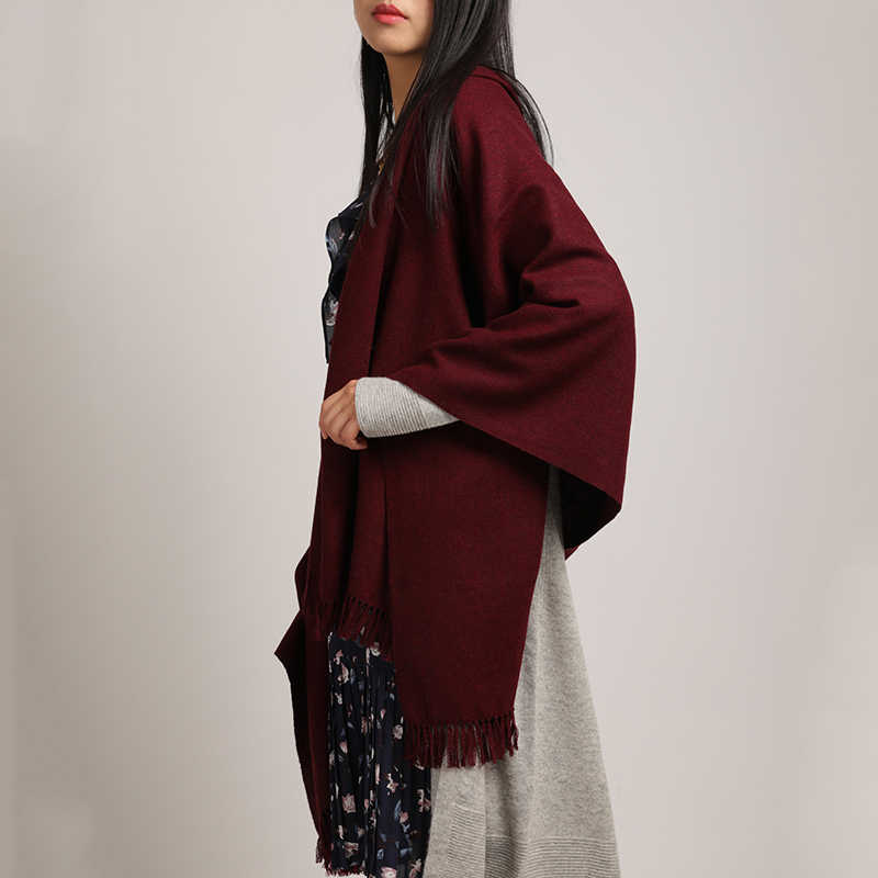 00e4a8571977b ... New stylish yak woo Scarfs Long Tassels Red Color Cashmere Woven Warm  Wool Winter Fashion Shawls ...