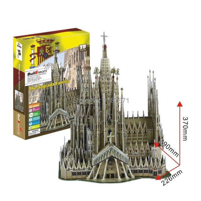 Бумажная модель Diy Sagrada Familia блоков просветить блоков строительного кирпича учебный корпус игрушки детей масштабные модели комплект brinquedos