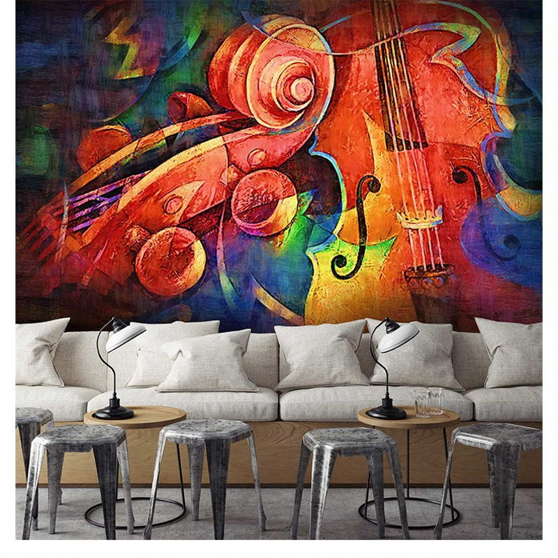 Us 120 38 Offfoto Kustom Wallpaper Modern Desain Tangan Dicat Lukisan Abstrak Restoran Hotel Ktv Latar Belakang 3d Wallpaper Mural In Wallpaper