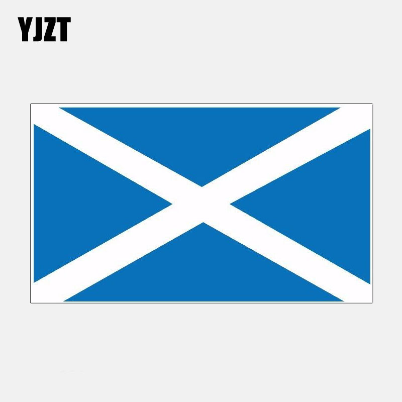 YJZT 11.6CM*6.7CM Creative Scotland City Flag Motorcycle Car Sticker Decal Accessories 6-2841